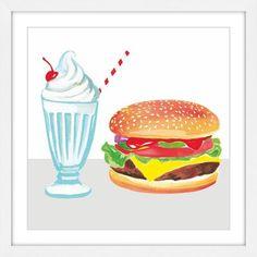 Painting Frames, Painting Prints, Handmade Burger, Burger Cartoon, Burgers And Shakes, Home Burger, Paper Artwork, Popular Christmas Gifts, Drawing For Kids