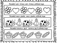 örüntü boyama Preschool Activities, Grade 1, Montessori, Clip Art, Grid, Toddler Activities, Pictures