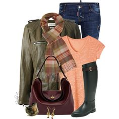 Checked Scarf, created by carolinez1 on Polyvore