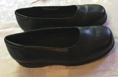 132850a167e Rockport Alameda Loafers Women s 6.5 XW - Black Leather Slip-Ons Pumps Shoes   Rockport
