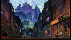 Akira [( Science-fiction, dystopia, future noir, Blade Runner, cyberpunk, night skylines, dark city, Metropolis )]
