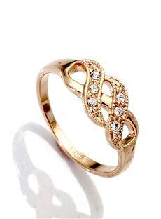 $5.49 Modern Popular Exquisite Shining Rhinestone Champagne Golden Ring: dressyours.com