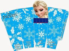 Frozen Free Printable PopCorn Boxes.