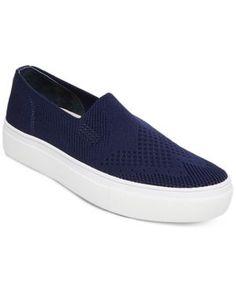731113f460261 Steven by Steve Madden Women s Kai Slip-On Sneakers - Blue 5.5M Platform  Sneakers