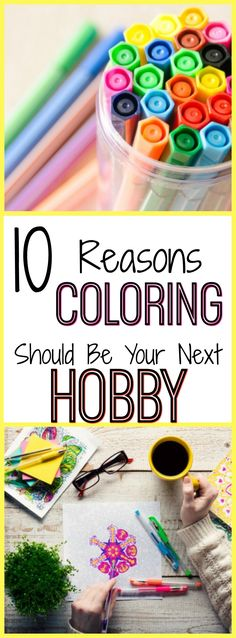 Stress relief with adult coloring! Make it your next hobby!