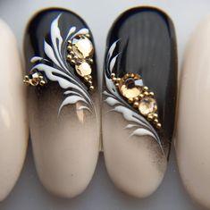 Fancy Nails, Pretty Nails, Cute Acrylic Nails, Gel Nails, Swirl Nail Art, Nagellack Design, Nail Art Designs Videos, Nail Room, Indigo Nails