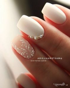 Nails 2018 Design 25 Acrylic Nail Art Designs Manicure Nail Acrylic Nails, Nail Design # Hairstyles Most Stunning Almond Acrylic Nails Design You Must Try in Fall and 1 vote 70 Most Stunning Acrylic Nail Designs, Nail Art Designs, Monogram Nails, Light Nails, Wedding Nails Design, Wedding Manicure, Almond Nails Designs, Nails 2018, Almond Acrylic Nails
