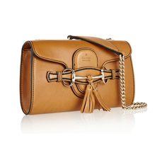 Gucci Emily Leather Shoulder Bag ❤ liked on Polyvore