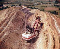 Coal strip mine hydraulic shovel sorry