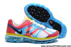 34c13c16219b Discount Womens Nike Air Max 2012 White Blue Red Yellow Shoes The Most  Lightweight Shoes