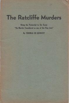Booklet, The Ratcliffe Murders, by Thomas De Quincey, Haldeman - Julius Publications, 32 pages, fair shape, c1940s by VintageNEJunk on Etsy