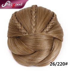 1PC 50G Postiche Chignon Hairstyle Fake Hair Bun Pieces Braids Clip In Hair Bun Extensions Postiche Cheveux Chignon Wigood