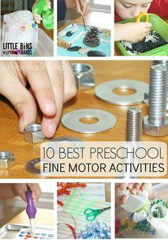 Preschool Fine Motor Activities for Pre-Writing Skills
