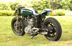 Yamaha Virago XV750 Cafe Racer Rear View | AstraOne.com › Classic-Custom Cafe Racers, Bobber & Chopper Motorcycles Gallery