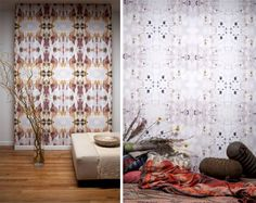 Papier peint, tapisserie - Kaleidoscopic wallpaper designed by Shanan Campanaro.