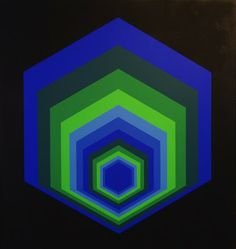 sextans   1979 by victor vasarely at vasarely museum