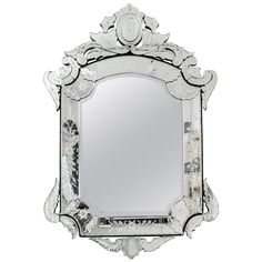 View this item and discover similar for sale at - Venetian mirror. Glass Texture, Venetian Mirrors, Mirror Mirror, Powder Room, Room Inspiration, Decor Styles, Serenity, Frames, French