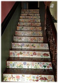 Merveilleux This Flower Ceramic Tile And Butterfly Ceramic Tile Staircase Has A Very  Victorian Feel. Itu0027s