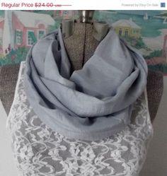 ON SALE Handmade Infinity Scarf Silk Ice Blue by GypsythatIwas