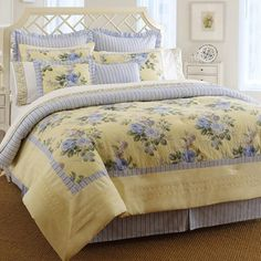 Add a touch of romantic style to your master suite or guest room with this lovely cotton comforter set, showcasing a charming floral motif for cottage-chic a...