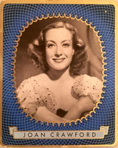 Vintage German cigarette card.  World War II era.  From my grandmother's collection.  Joan Crawford