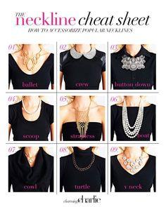 Que collar usar segun la blusa