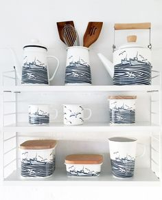 Mini Moderns Whitby enamelware at Top Drawer Jan 2016 at Wild and Wolf stand I61
