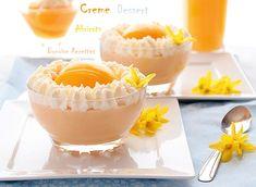 recette de creme dessert a l'abricot