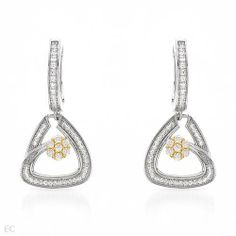 CleverSilver's 1.61.ctw Cubic Zirconia Gold Plated Silver Earrings CleverSilver. $149.99. Designer Earring by CleverSilver