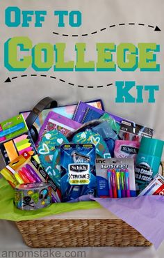 student off to college with excitement. Make them a cool off-to-college kit to bring back the joy of heading off to college.your student off to college with excitement. Make them a cool off-to-college kit to bring back the joy of heading off to college. High School Graduation Gifts, Graduation Presents, Grad Gifts, Graduation Ideas, Graduation Celebration, Graduation Gift Baskets, Graduation Gifts For Boys, Graduation Shoes, Birthday Presents