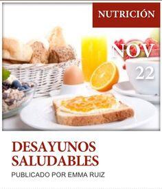 """Post  """"Desayunos saludables"""" de nuestro blog http://www.siluetaalcompleto.es/"""