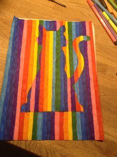 Regenboog tekening leuk voor de bovenbouw!
