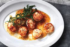 Scallops with Herbed Brown Butter (Paleo/AIP/Whole30 with ghee)