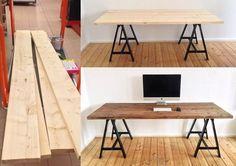 DIY Schreibtisch DIY Schreibtisch is part of Diy desk - Diy Interior, Interior Design, Steel Dining Table, Diy Dining Table, Table Desk, Dining Room, Furniture Making, Home Furniture, Furniture Ideas