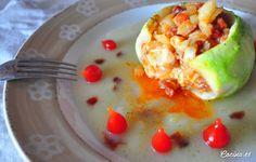 Calabacines rellenos de chorizo y queso