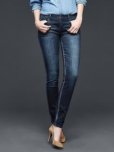 """With a 28"""" inseam, the petite jean section at Gap offers one of the widest arrays of cuts including skinny,..."""