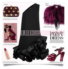 """""""LBD"""" by anne-irene ❤ liked on Polyvore featuring Daizy Shely, Charlotte Tilbury, Victoria, Victoria Beckham, Victoria Beckham and Serpui"""