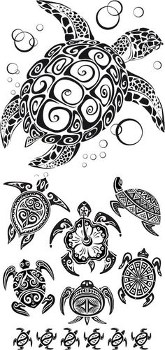Tribal Turtle Tattoo designs are common among tribal men and women, and it has been also seen a craze among urban tattoo lovers. Tribal Turtle Tattoo represents traits and attributes of the animal. Ta Moko Tattoo, Hawaiianisches Tattoo, Fiji Tattoo, Mann Tattoo, Armband Tattoo, Tattoo Pics, Samoan Tattoo, Tattoo Flash, Tribal Turtle Tattoos