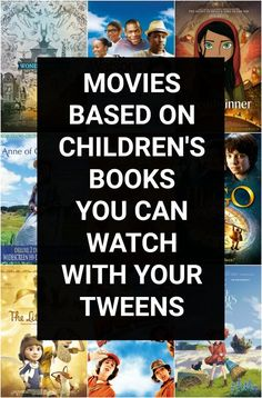Best movies based on children's books for families to watch together. Great family movie night choices for parents of tweens ages Family Movie Night, Family Movies, Family Tv, Dc Movies, Comedy Movies, Movies For Tweens, Roald Dahl Books, Good Movies To Watch, Chapter Books
