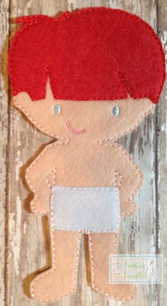 Felt Un Paper Benjamin Doll by NettiesNeedlesToo on Etsy, $6.00