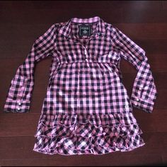 Victoria Secret  Lg PRICE DROP** Pink and Black checks, Rhinestones,  studs, ruffle Victoria's Secret Dresses