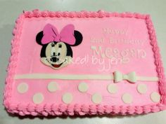 Minnie Mouse sheet cake ~ Baked! by jen 2013