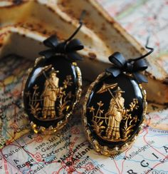 CHINOISERIE CHIC upcycled charmed earrings Treasury item by ee333