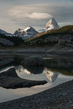 Mt. Assiniboine reflection in Og Lake, British Columbia, Canada | by Vaclav Bacovsky, via 500px