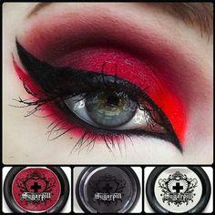 #SugarpilCosmetics Demonic Passion #eyeshadow #inspiration