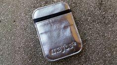 """Maybe """"STREAK"""" ( Silver/ black) Leather Wallet"""