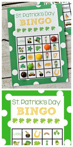 Patrick's Day Bingo Game St. Patrick's Day Bingo Game to print and play with the kids! St Patrick's Day Games, Games For Kids, Activities For Kids, Childcare Activities, Church Activities, Group Activities, Party Activities, St Patricks Day Crafts For Kids, St Patrick's Day Crafts