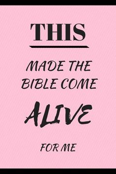 Ever thought the bible was boring and irrelevant? Yeah me too! But then something changed ... read this post to find out what made the Bible come alive for me! At http://HeavenOnEarthBlog.com.au
