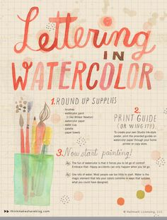 Play with hand lettering in watercolor with Hallmark artist Amber Goodvin. Make your own cool wall art with Amber's awesome DIY lettering tips. Amber makes tackling watercolor for the first time surprisingly easy!