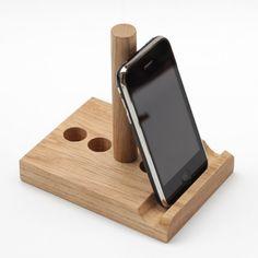 Phone stand // tablet stand // Adjustable angle // Handmade wood